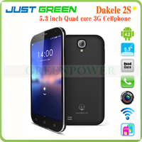 China Original MTK6589T Cell Phones Android 4.2 WCDMA/GSM 1.5GHz Quad Core IPS 5.3 Inch DAKELE Smartphone 2S MC002