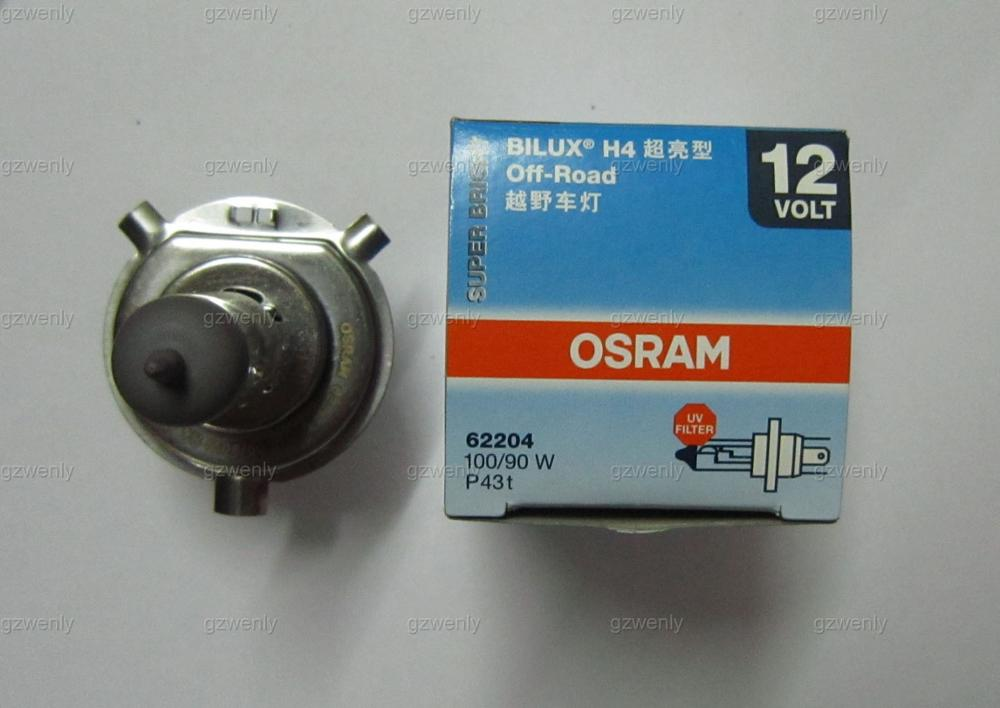2pcs osram 62204 H4 12V 100/90W P43t Halogen Headlight lamp super bright