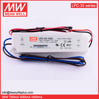 Meanwell 30W 1050mA Waterproof LED Driver LPC-35-1050 Variable DC Power Supply