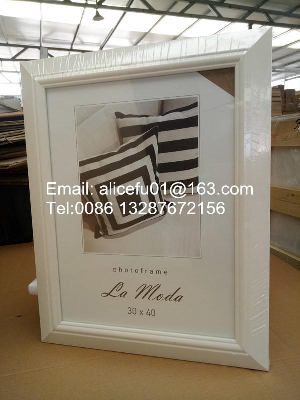 Interior decorativo simple color blanco marco de fotos de plástico ...