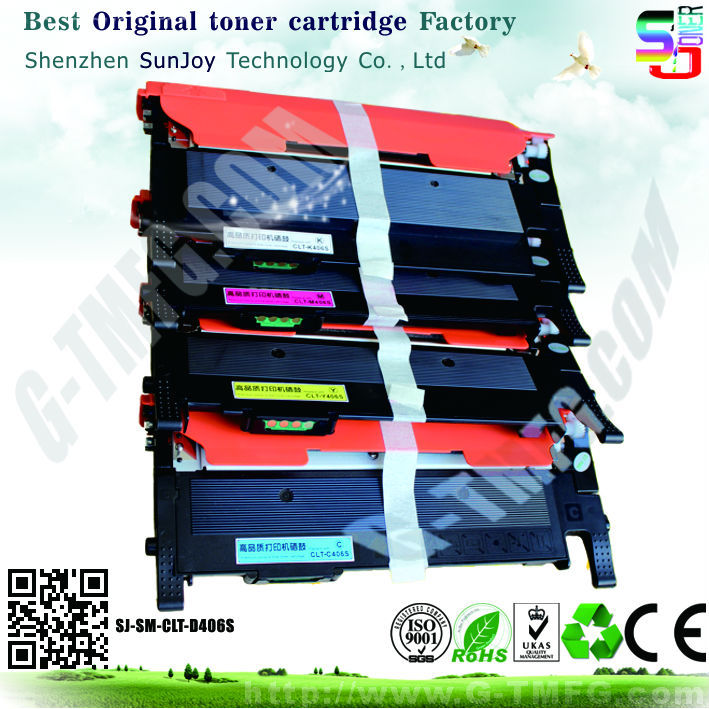 new compatible for samsung toner cartridge clt-406s clt-k406s clt-c406s clt-m406s clt-y406s for samsung CLP-360 / 365 / 368