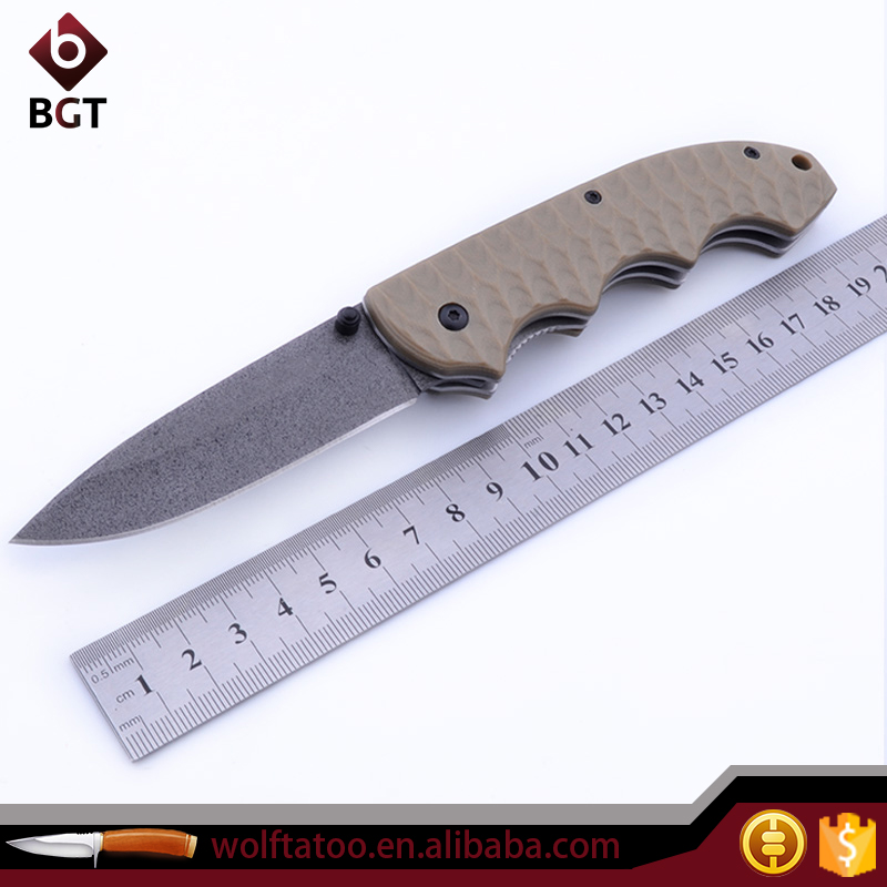 High quality pocket knife Stainless Steel Blade G10 Handle multi tool edc knife