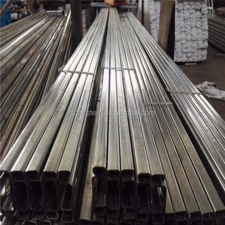 buildings material metal fabrication stainless steel U channel for glass frame cabinet decoration used