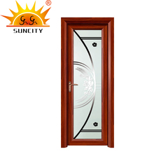 SC-AAD008 Lacquered Glass Aluminum Frame Glass Casement Door Picture