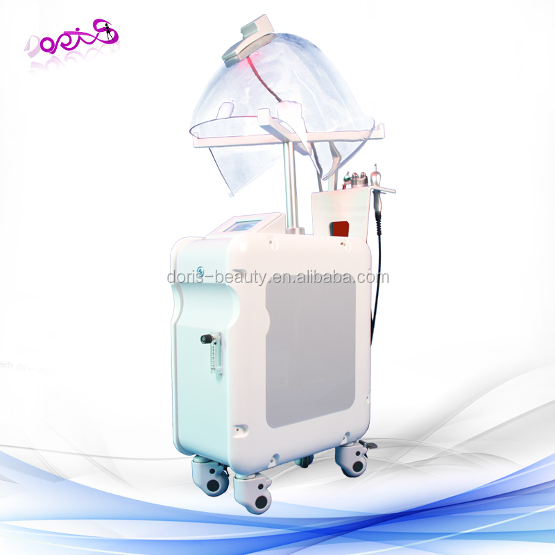 portable hyperbaric oxygen chamber/portable oxygen facial machine with LED PDT light G882C