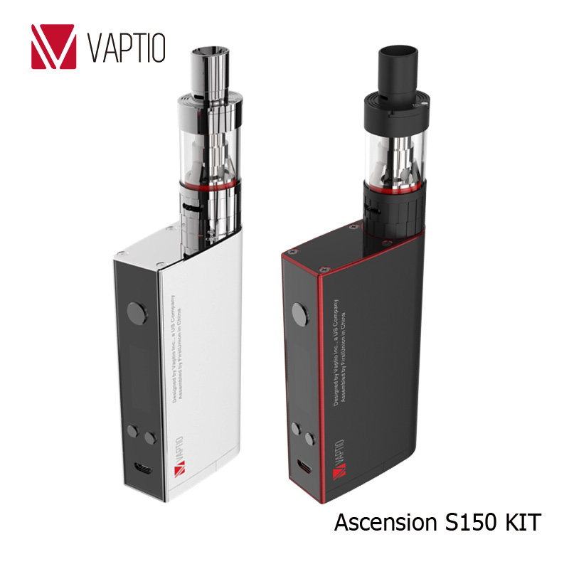 Vaptio vapes hookah pen 150w variable wattage mod Ascension S150 ATC/Ni200/Ti/SS316L temperature control mod vapor