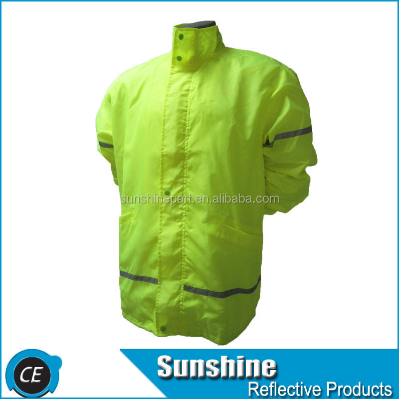 fluorescent jacket transparent reflect safety