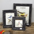 Wholesale Cheap Customized Rustic Shabby Chic Antique Handmade Mini Black Funia Wooden Photo Frame