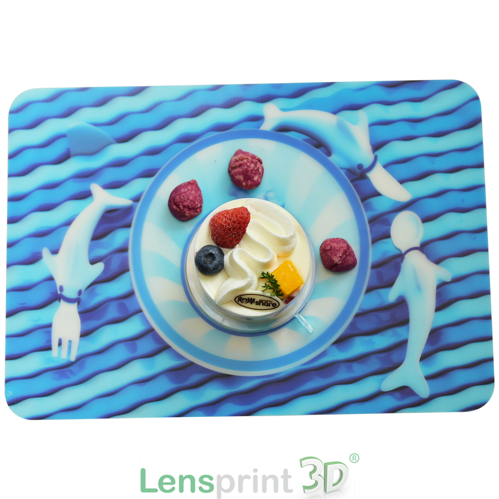 Plastic 3d kids table mat