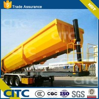 CITC brand 30 ton dump truck semi trailer with rear dump and side for sale