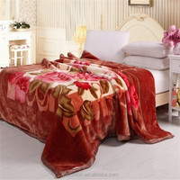 King queen size blanket 2ply flower printing