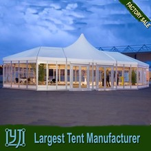 luxury aluminium pink canopy tent for wedding party