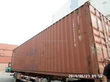 Used 40'high cube 40HQ corten steel shipping container sea container