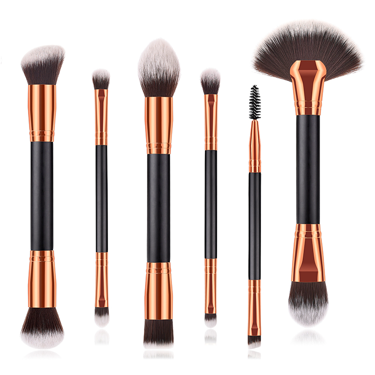 High end two sides customized custom logo foundation make up tools dual ends makeup brush