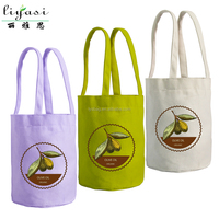 One Bottle Beer Canvas Bag for Gift Promotion Bag