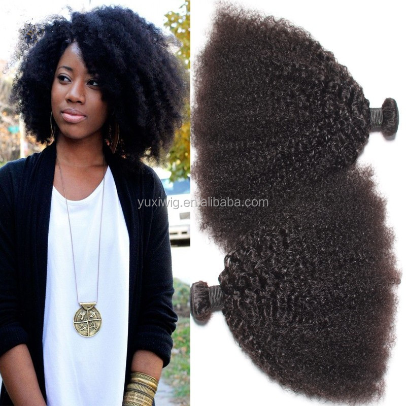 2016 Natural Looking Puff Kinky Curly Virgin Hair,Afro Kinky Hair,Afro Kinky Human Puff