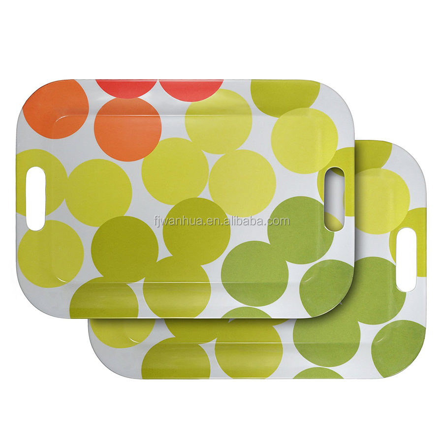 Melamine serving tray for food