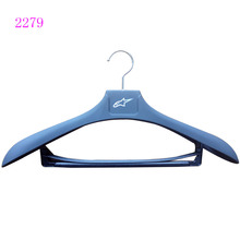 plastic black big heavy rubber coating clothes hanger with pants bar