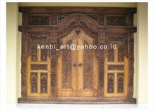 TEAK gebyok Ethnic Style, Full Door Model Carving.