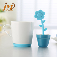 Wholesale flower pot plant silicone tea infuser for sale