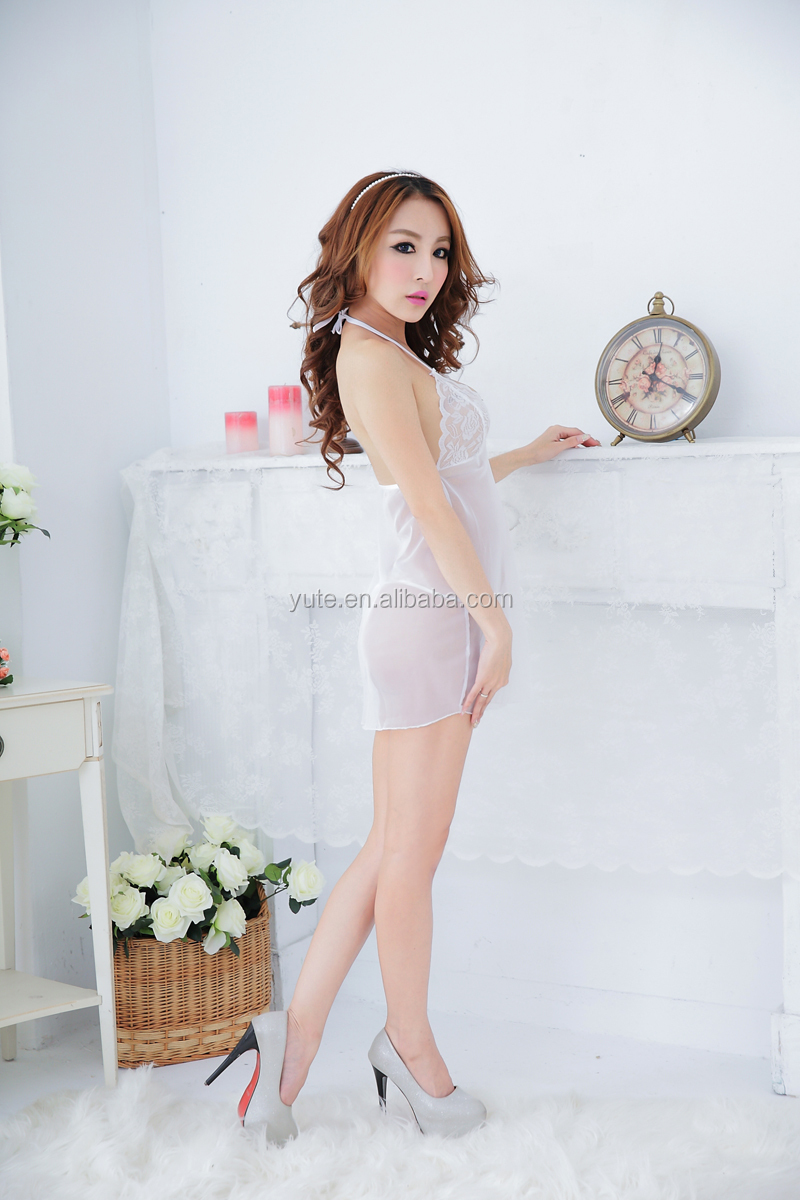 Transparent Lace gauze suspender skirt young girl xxx sex china lingerie sexy hot