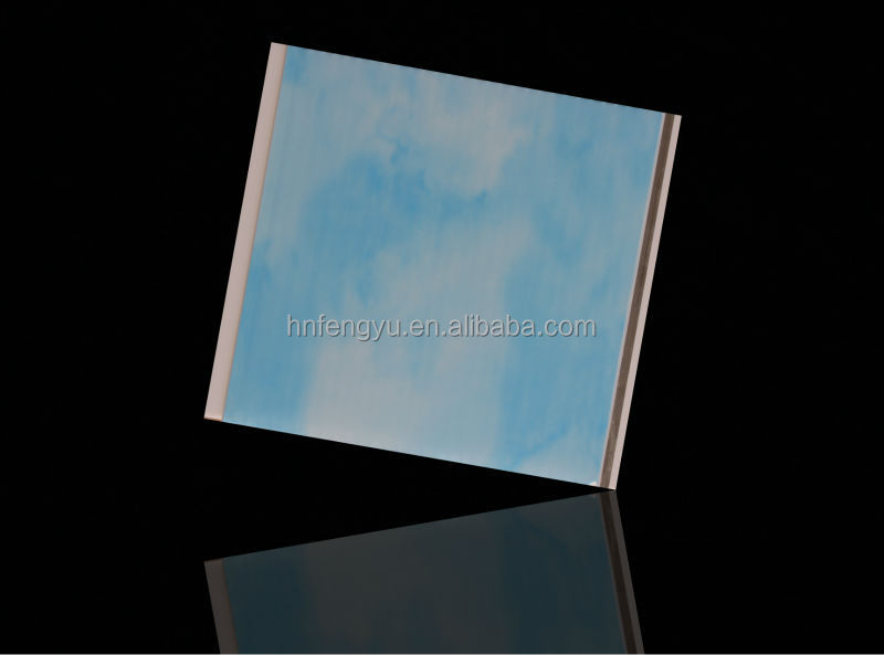 blue sky pvc ceiling panelprinting 20cm mobile home ceiling panel made in china