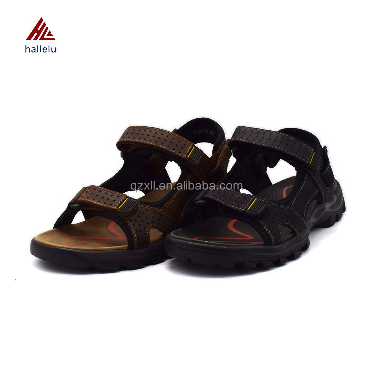 High Quality Classic Adjustable Full Grain Genuine Leather Southeast Asia Men Sandals