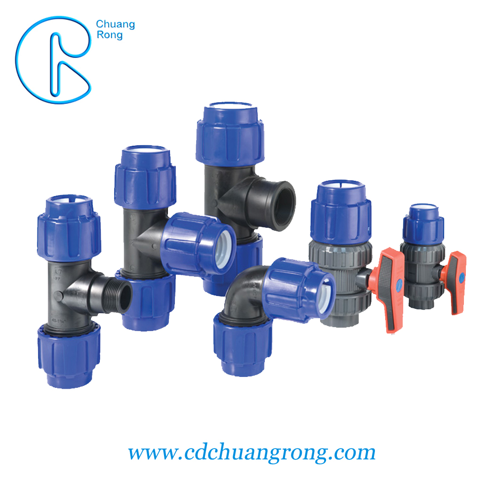 PE100 or PE80 High strength Light weight hdpe 2 inch poly pipe fittings