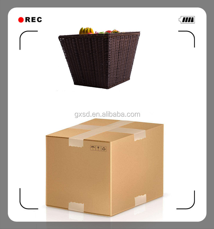 Fashionable wholesale widely use kitchen restaurant storage poly rattan food basket candy for store display