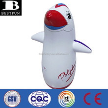 inflatable tumbler toys kids penguin bop bags toys custom made animal design 3d bop punch bags toy