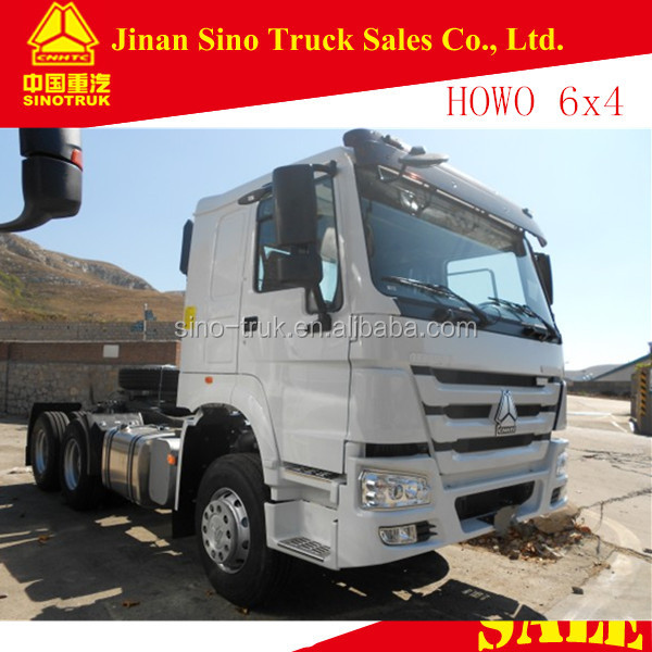 chinese sinotruk 6x4 40ton howo tractor truck for towing trailer