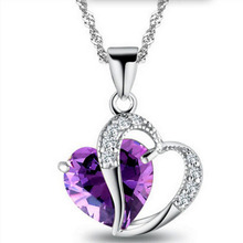 Cheap Wholesale Pendant Jewelry Diamond Heart <strong>Necklaces</strong> For Love