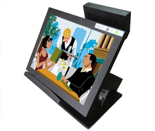all in one touch screen pos system with card reader and customer display