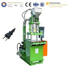 USA Standard pvc 2 round pins plug injection moulding machine