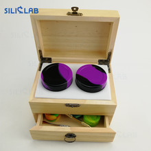 Wholesale Unfinished Wood Classic bho oil container Box with Hinged Lid