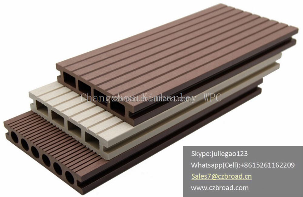 Co-Extrusion Fireproof Waterproof WPC Decking Boards