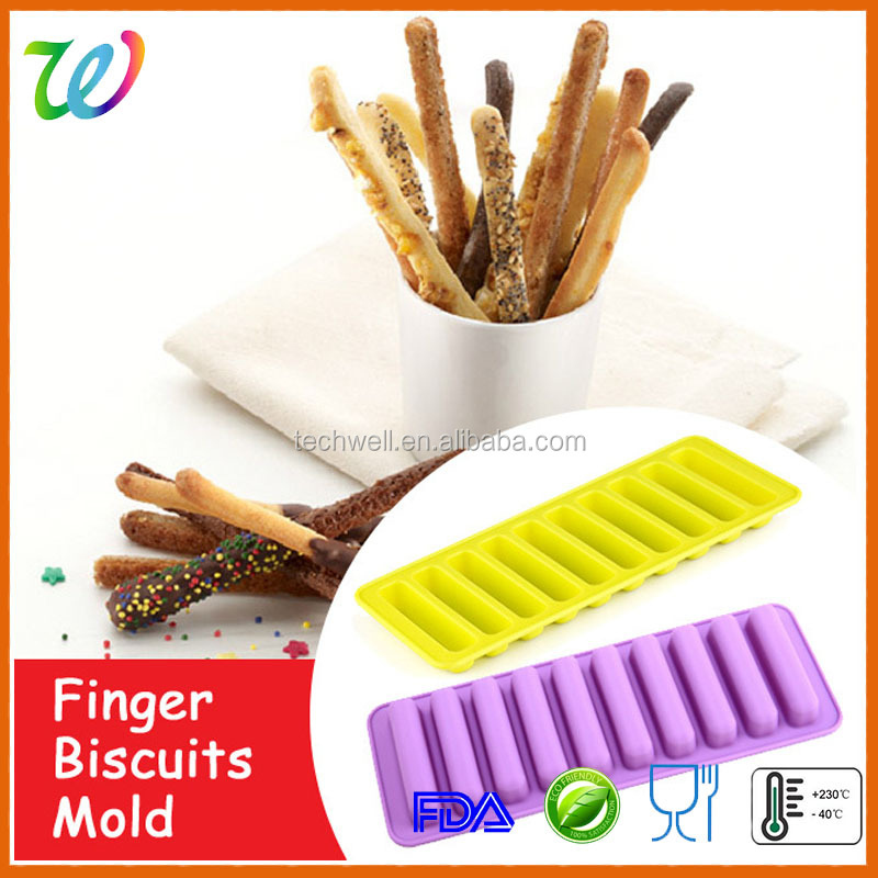 FDA & LFGB grade silicone finger biscuit mold chocolate mould