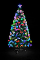 Artifical Fiber Optic Lighting Christmas Tree, Top Star Decoration Christmas Tree
