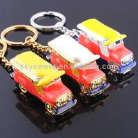 Truck Shape metal Promotion Key Chain,car shape metal key chain
