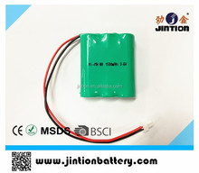 3.6v NiMH AA 1500mAh battery pack
