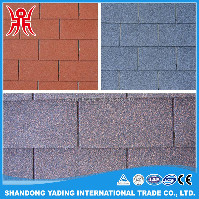 Cheap price red fiberglass asphalt roofing shingles