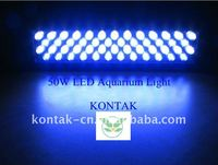 3G 50W LED Aquarium Light Bar Fixture 3W Cree With Lens For Marine Coral And Reef Grow Panel Saltwater Lights Fish Tank System