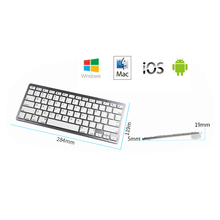 Wholesale Mini Bluetooth Wireless Keyboard for iPad Mini iPad2 3 4 5Galaxy Tab 2 3