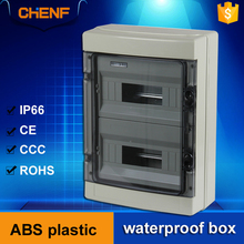 PC material clear cover ABS plastic outdoor anticorrosion 24 way electric meter distribution box