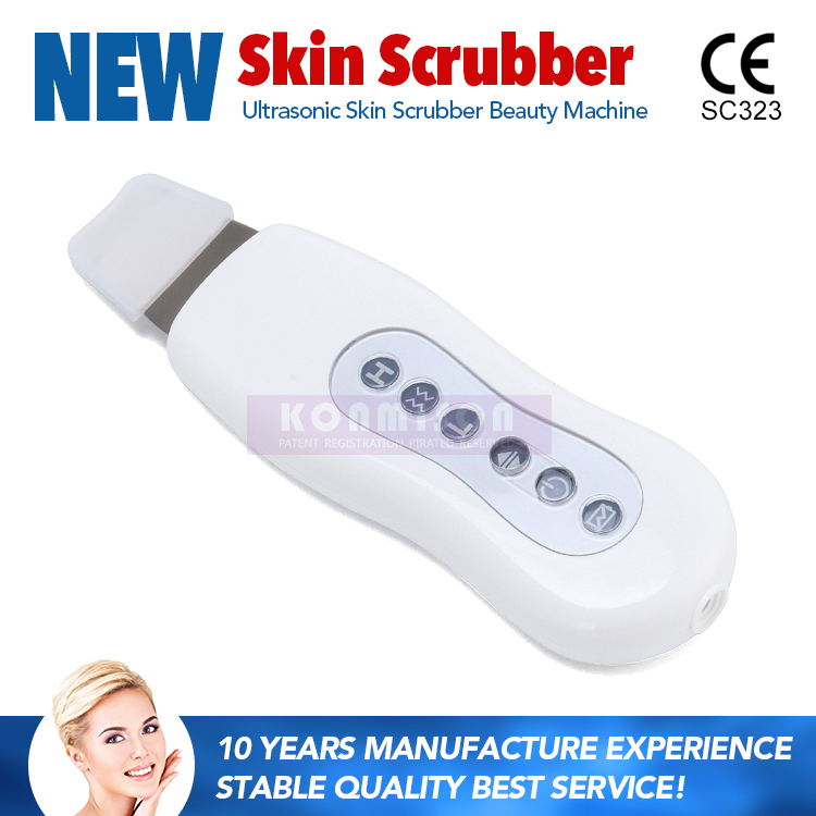 Handheld skin care ultrasonic facial skin scrubber