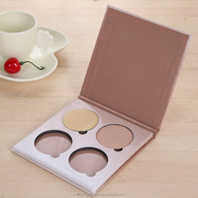 fashion cardboard eyeshadow packings with 4 color eyeshadow palette