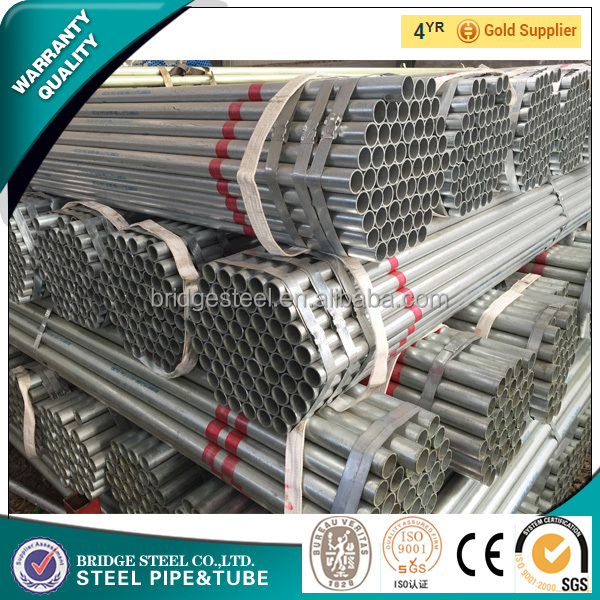 Round section and CE certification hot dip galvanized steel pipe