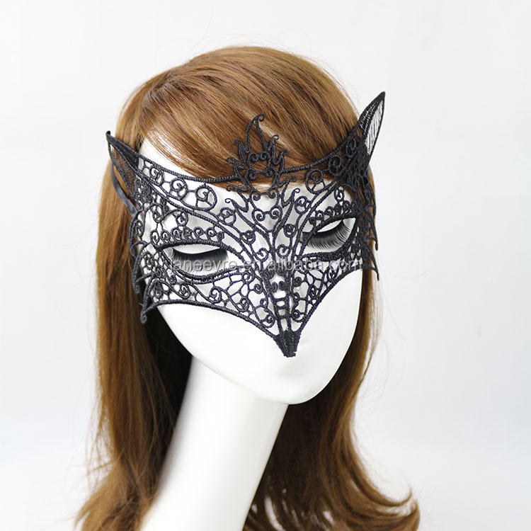 Wholesale Halloween/Chirstmas Sexy Lace Animal Fox Mask Made in China