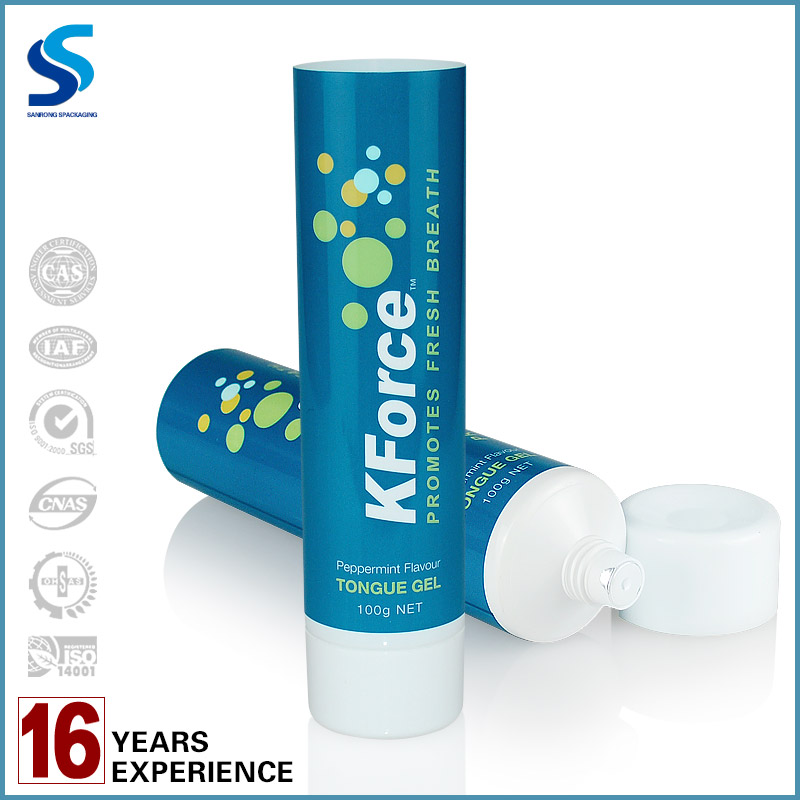 100g Toothpaste Packaging tube PP Plastic Type plastic tube vial offset printing screw cap Round sharp Tube