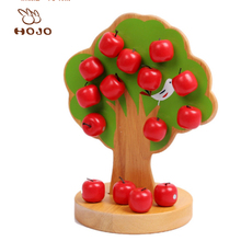 Magnetic apple tree Children's wooden educational toys